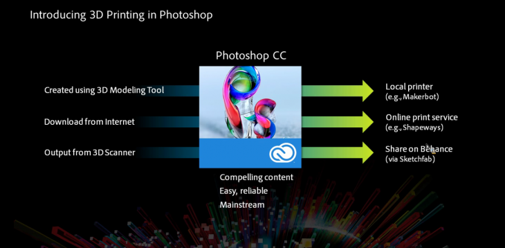 Screen Shot 2014 01 13 at 4.12.47 PM 730x358 Adobe introduces support for 3D printing to Photoshop, brings a glut of new features to its Creative Cloud apps