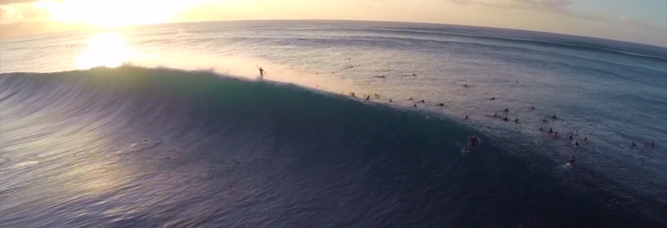 This surfing video shot with a drone and a GoPro at Banzai Pipeline will blow you away