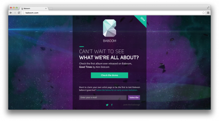 Screen Shot 2014 01 20 at 13.11.47 730x406 Kim Dotcom gives a sneak preview of Baboom, his new music streaming service