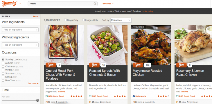 Screenshot 15 730x358 Recipe search site Yummly now caters for UK palates