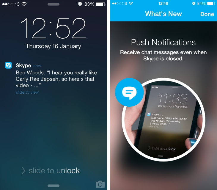 Image Result For Iphone Skype Push Notifications