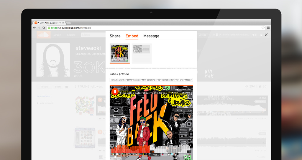 SoundCloud launches an artwork-rich embeddable 'visual player' for the Web