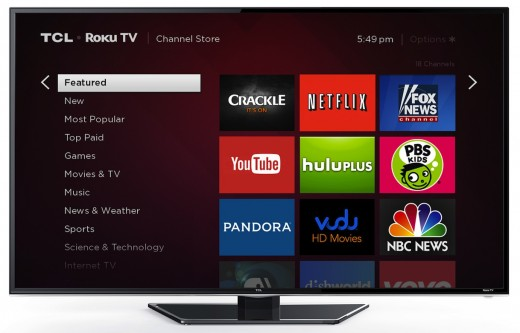 TCL RokuTV ChannelStore 72dpi 520x333 Set top box maker Roku announces its first smart TV, coming to stores this fall