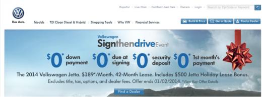 Volkswagen website