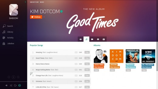 baboom2 520x292 Kim Dotcom gives a sneak preview of Baboom, his new music streaming service