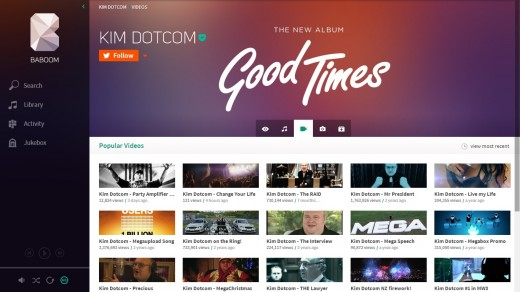 baboom3 520x292 Kim Dotcom gives a sneak preview of Baboom, his new music streaming service