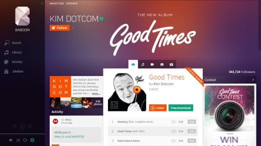 baboom8 520x292 Kim Dotcom gives a sneak preview of Baboom, his new music streaming service