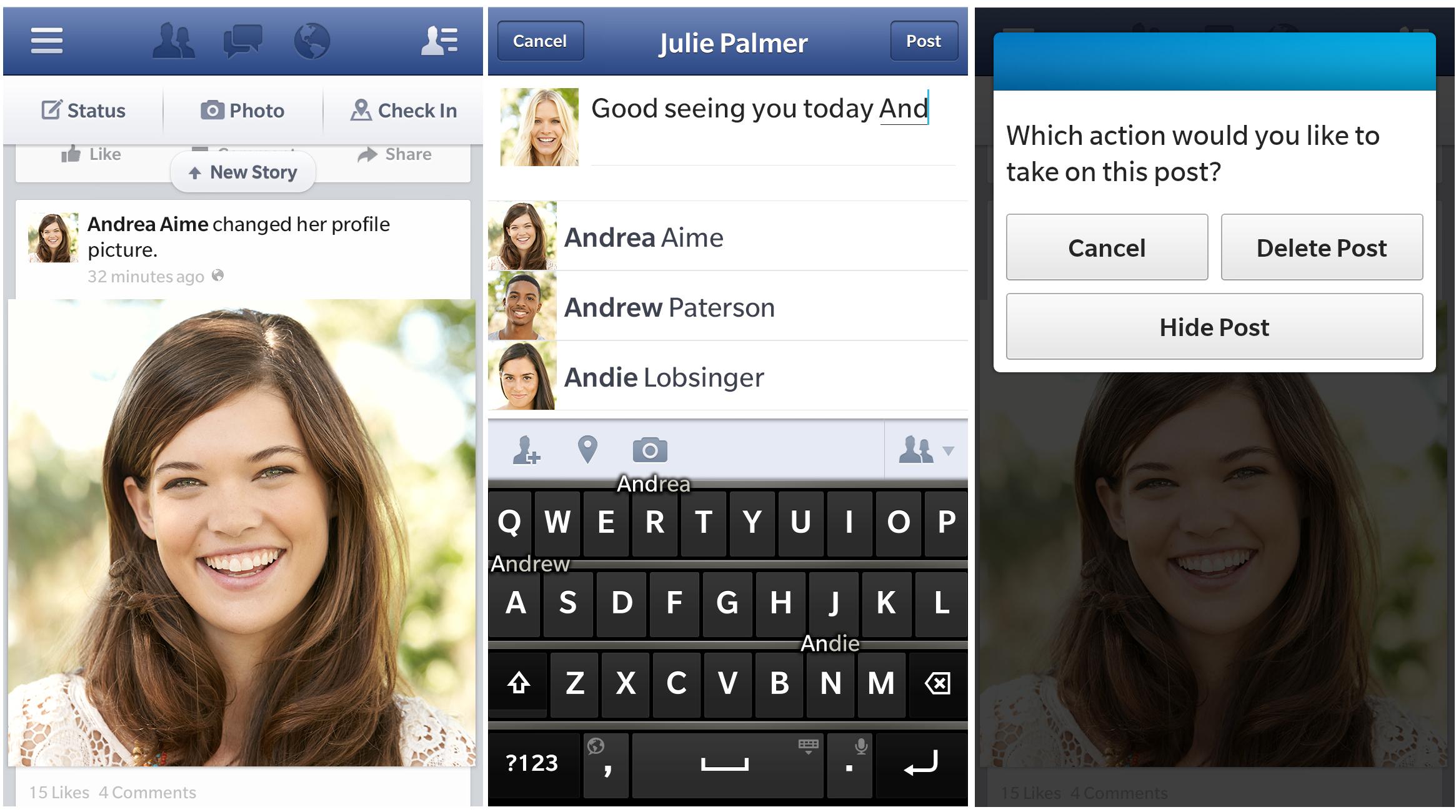 Facebook for BlackBerry 10 Gets Inline Tagging, Offline Viewing