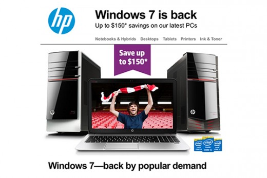 hpbackwindows560px 520x347 HP says its not dropping Windows 8, despite promoting its Windows 7 product range