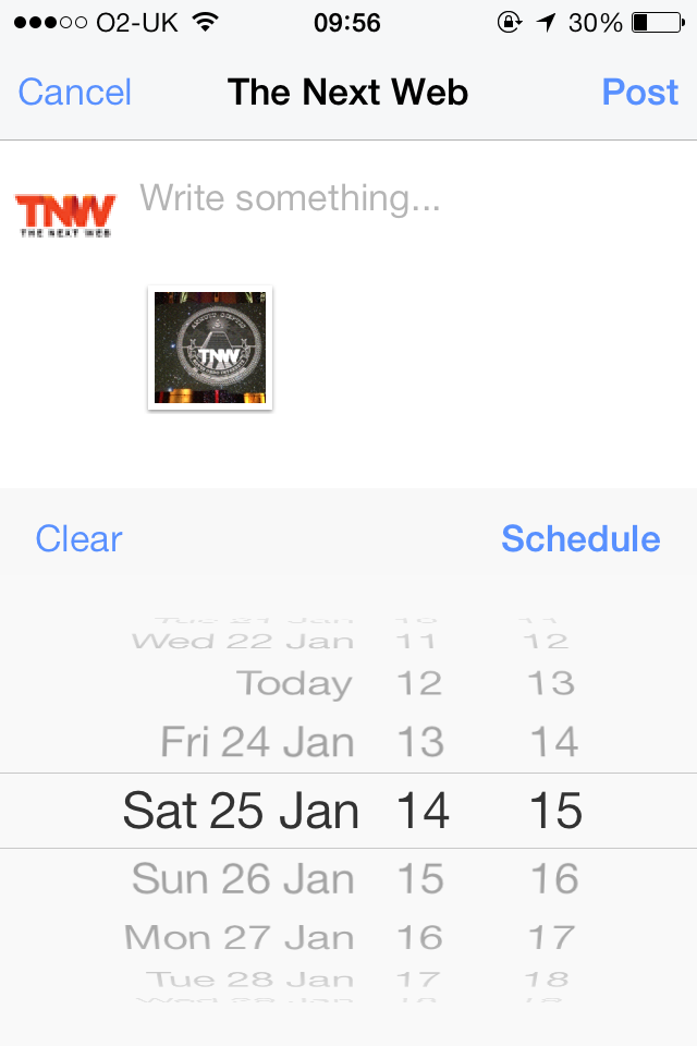 Facebook Pages Manager for iOS Gets Image Post Scheduling