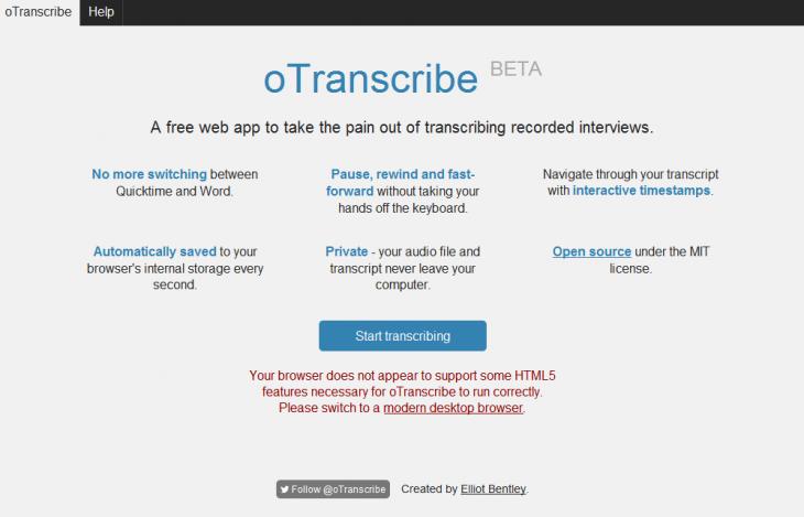 oTranscribe_home
