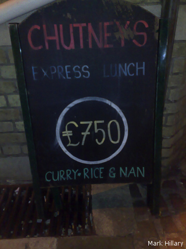 price chutney lunch