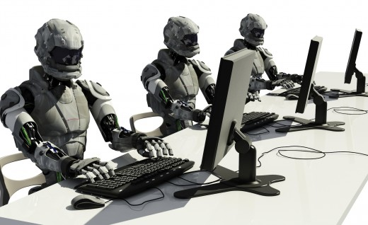 robots using computers