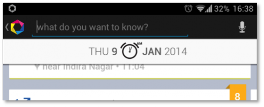 The search bar nudges you to ask questions about the data in your life log