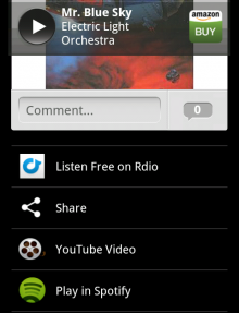 shazam Shazam will automatically add tagged tracks to a unique Rdio playlist