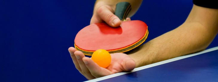 This is probably the funniest table tennis match you'll ever watch