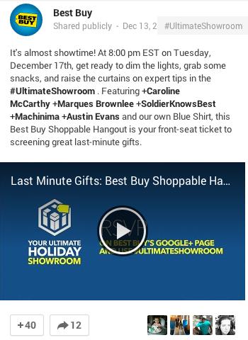 Best Buy Google hangout