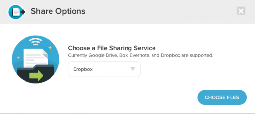 Dropbox screenshot 520x232 UberConference integrates with Dropbox to give users another option to share files within meetings