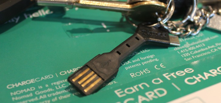With the $25 Chargekey, you'll never be caught without a USB cable again