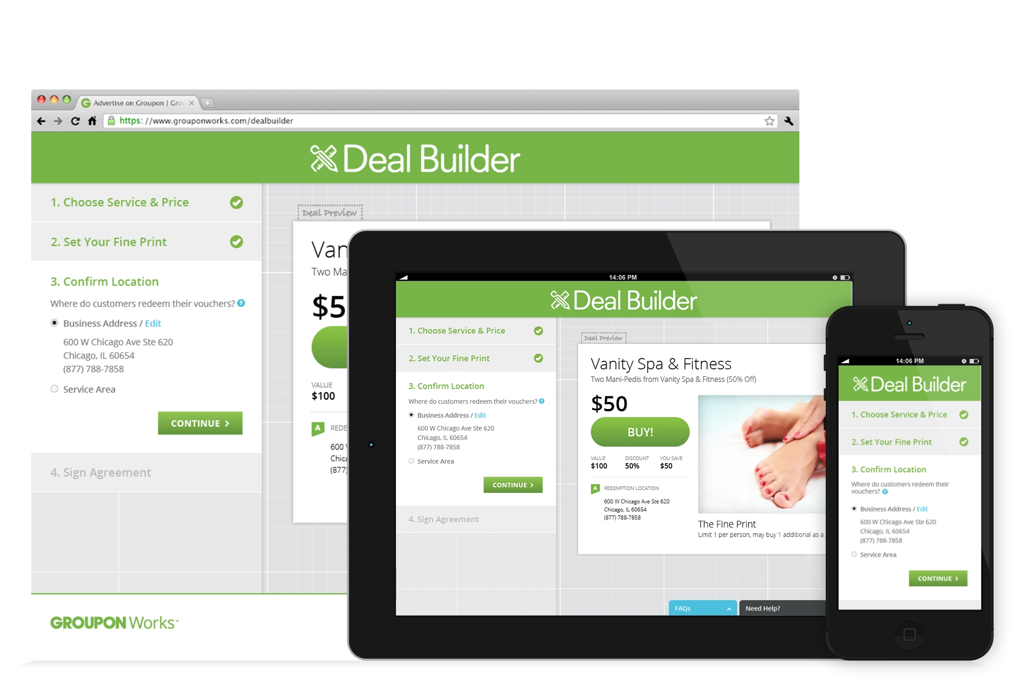 Groupon launches self service deal builder for 39 almost for Find a local builder