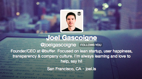 Joel Gascoigne, Buffer founder and CEO