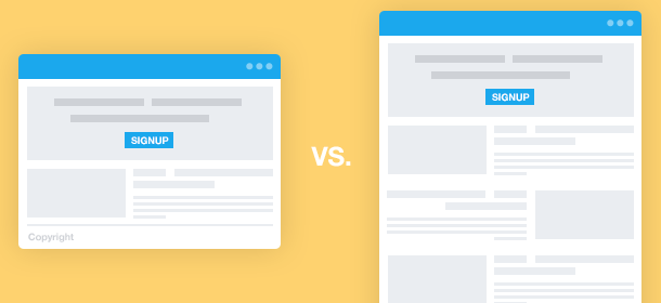 What's more effective: Long or short landing pages?