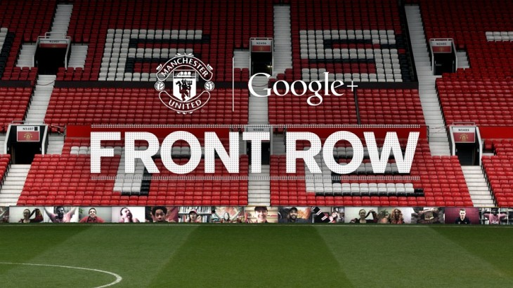 Manchester United and Google 'Front Row' initiative in action (credit Manchester United)