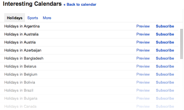 Google Calendar Now Supports Holidays From 30 New Countries