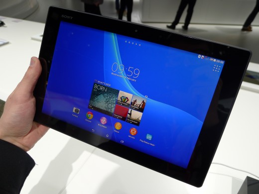 P1050235 520x390 Sony Xperia Z2 Tablet hands on: A remarkably slim, light and powerful 10.1 inch Android slate