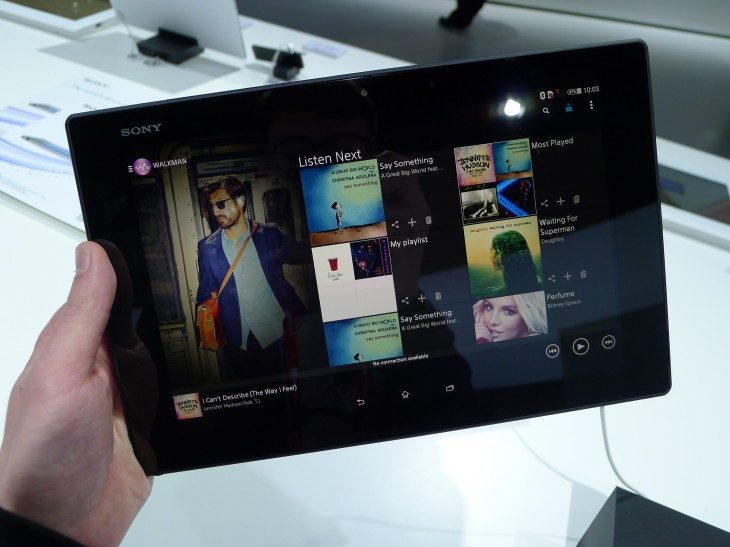 P1050254 730x547 Sony Xperia Z2 Tablet hands on: A remarkably slim, light and powerful 10.1 inch Android slate