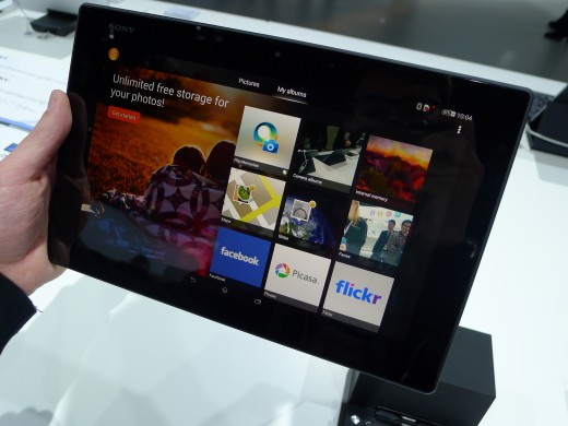 P1050255 520x390 Sony Xperia Z2 Tablet hands on: A remarkably slim, light and powerful 10.1 inch Android slate