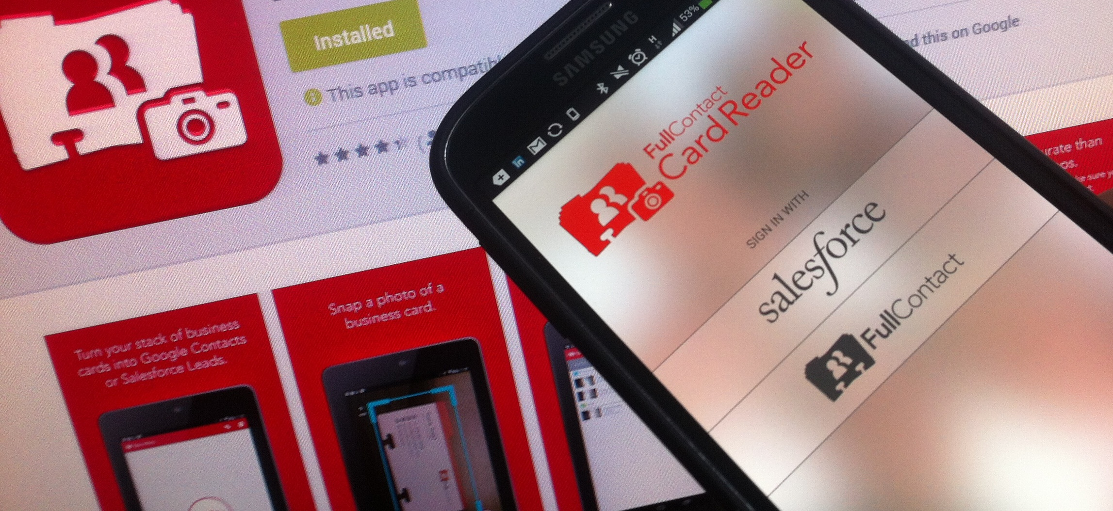 Fullcontact card reader hits android reheart Gallery