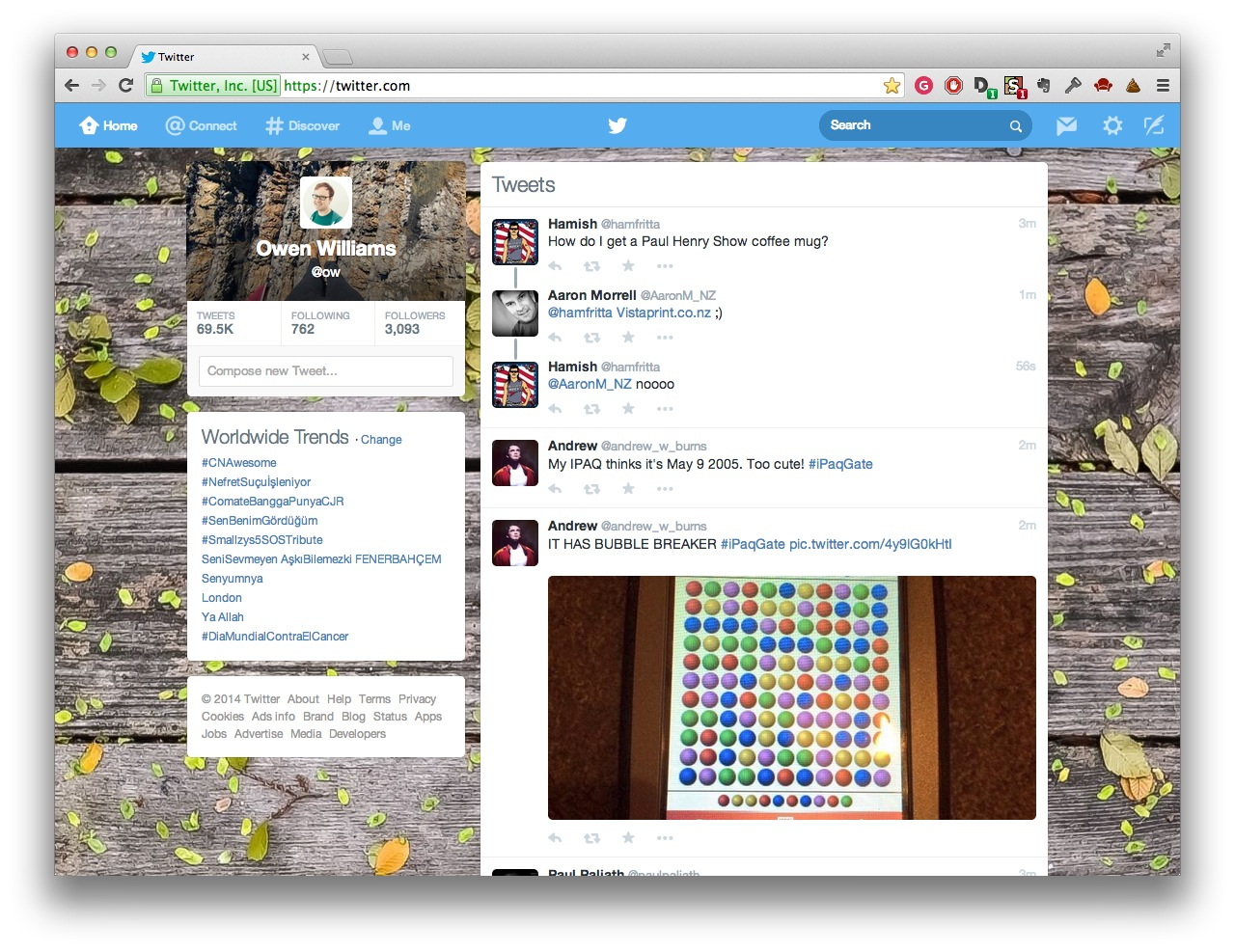 Screen Shot 2014 02 04 at 10.51.09 pm Dont like Twitters new design? Heres how you can change it