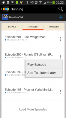 Screenshot 2014 02 21 09 23 02 220x391 Looking for offline podcasts? Stitcher for Android just got a whole lot better.