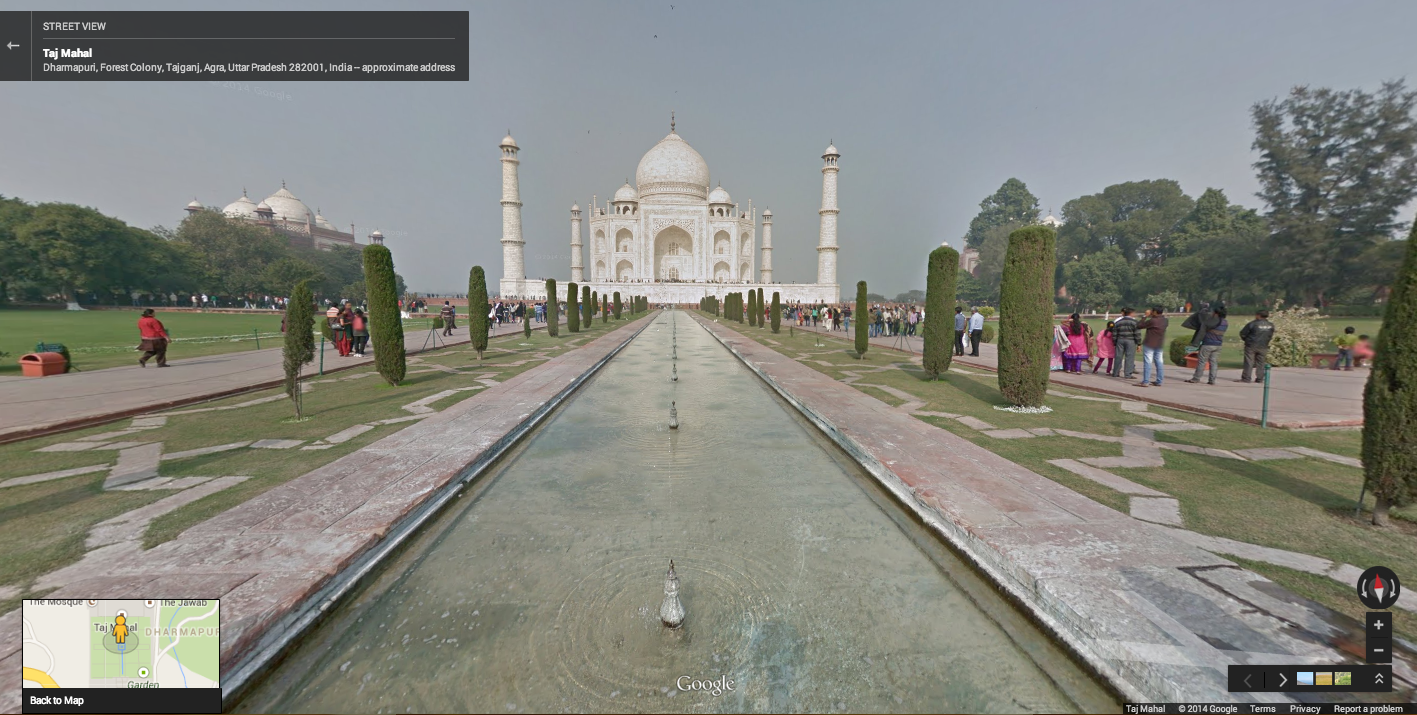 You can now explore india 39 s taj mahal on google street view for Goodl