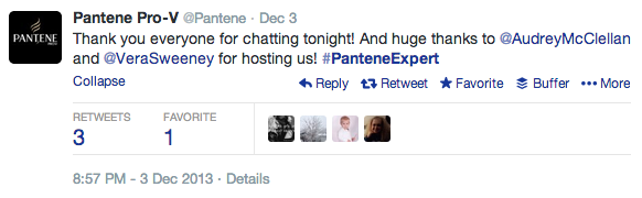 Twitter Chat Pantene