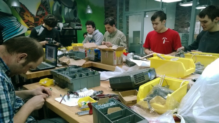 A hardware startup at work