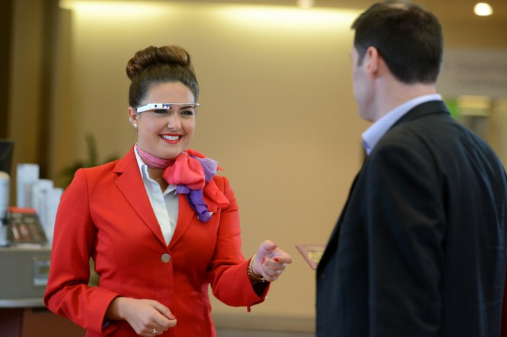 glass2 730x486 Google Glass worn by Virgin Atlantic staff to assist passengers at Londons Heathrow airport