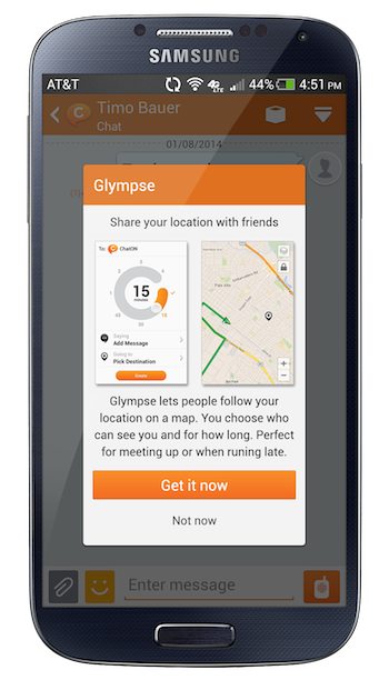 Samsung's ChatOn App Now Includes Location Sharing