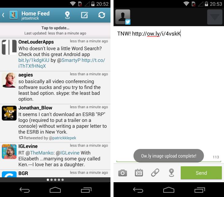 Twitter клиент для android