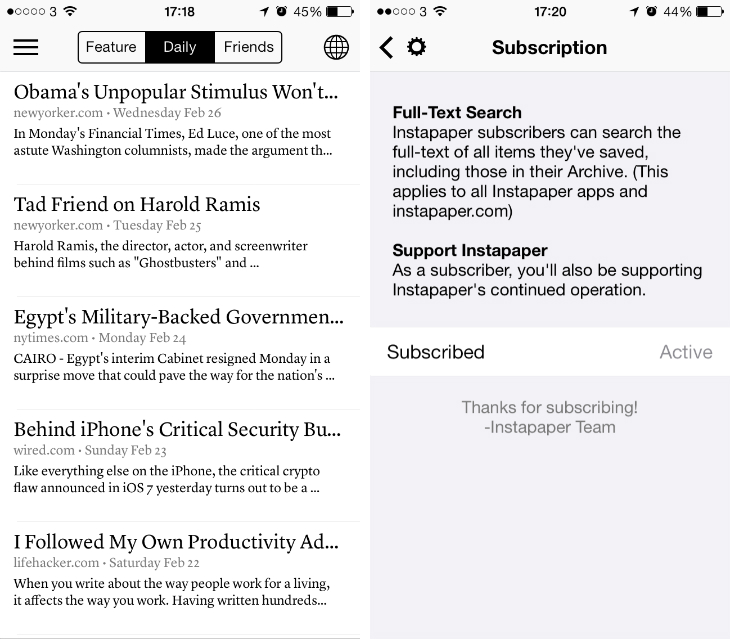 insta1 Instapaper for iOS now lets you send articles to your Kindle and stream videos via AirPlay