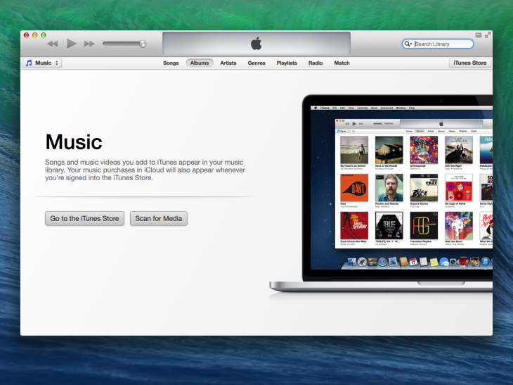 iTunes shows users what their library could look like.