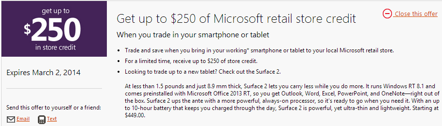 microsoft 250 smartphone tablet Microsoft wants to buy your smartphone or tablet for up to $250