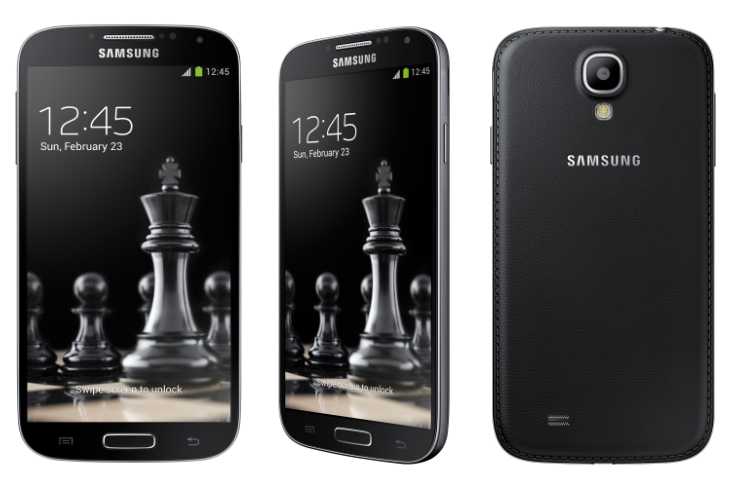 Samsung Unveils Black Edition Galaxy S4 With Faux Leather Backs