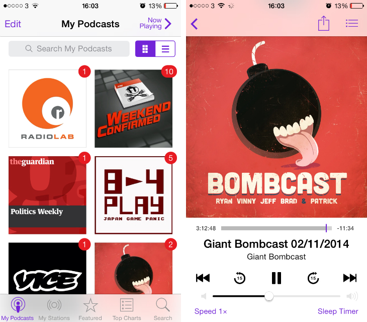 Podcasts app for iOS