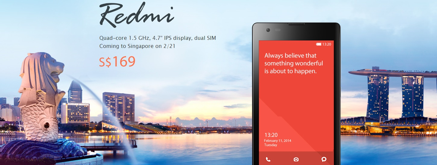 Xiaomi confirms its first launch outside of Greater China will be Singapore on February 21