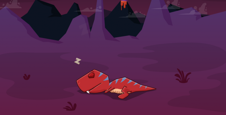 Sleepasaurus for iOS uses dinosaurs to help train your kids to sleep