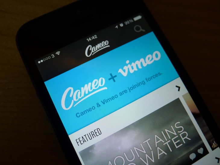 Vimeo acquires Cameo, a video recording, editing and sharing app for iPhone