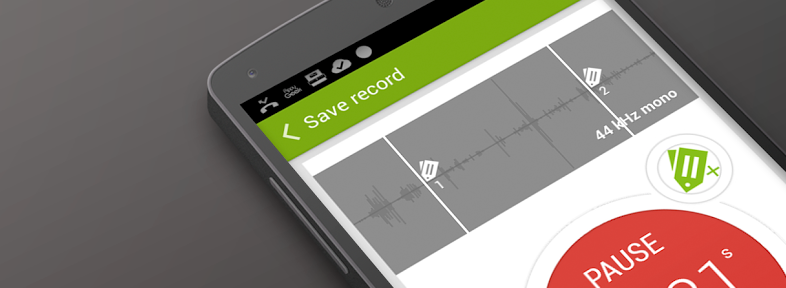 Recordsens 786x288 - Recordense for Android is a stylish recorder for annotating audio with notes