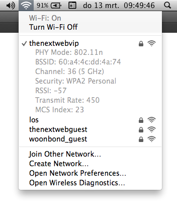 Wifi Menu